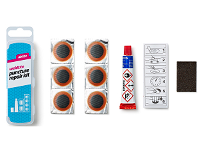 Łatki do dętek zestaw WELDTITE AIRTITE PUNCTURE 6x łatki pudełko 25szt.