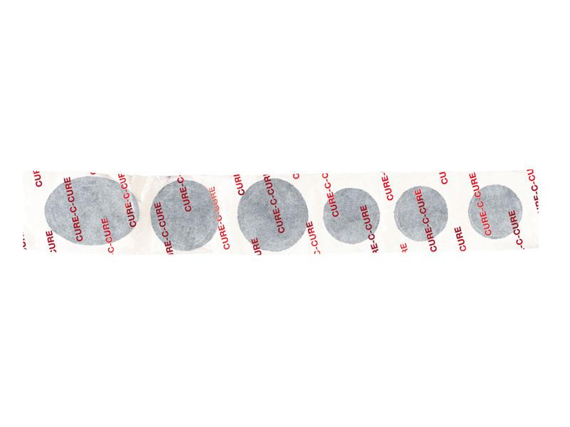Łatki do dętek zestaw WELDTITE CURE-C-CURE CYCLE REPAIR STRIPS 6x łatki samoprzylepne pudełko 50szt.