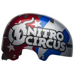 Kask bmx BELL LOCAL nitro circus gloss silver blue red roz. M (55–59 cm) (NEW)