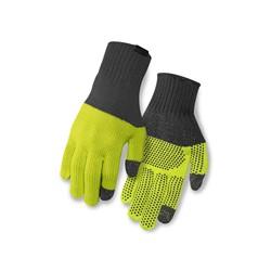 29989d62493e58 Rękawiczki zimowe GIRO KNIT MERINO WOOL długi palec grey lime roz. S/M (