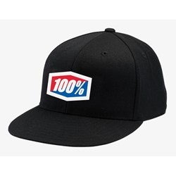 Czapka z daszkiem 100% OFFICIAL J-Fit flexfit hat black roz. S/M