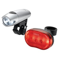 Zestaw lampki TORCH CYCLE LIGHT SET HIGH BEAMER WHITE 5 + TAIL BRIGHT 5 (DWZ)