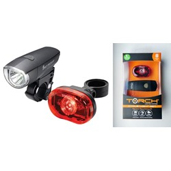 Zestaw lampki TORCH CYCLE LIGHT SET HIGH BEAMER COMPACT 1W + TAIL BRIGHT 0.5W (NEW)