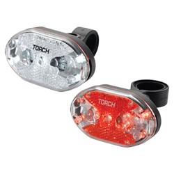 Zestaw lampki TORCH CYCLE LIGHT SET WHITE BRIGHT 5X + TAIL BRIGHT 5X (DWZ)